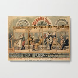 1896 Orient Express musical revue Paris Metal Print