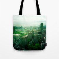 brooklyn Tote Bags featuring Brooklyn by Claire Beaufort