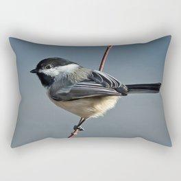 Winter Chickadee II Rectangular Pillow
