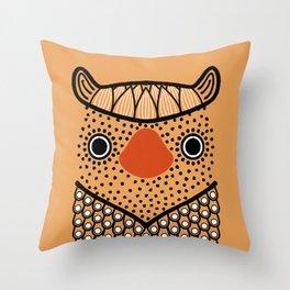Owl Figurine Throw Pillow