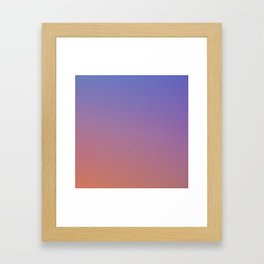 OXIDISED METAL - Minimal Plain Soft Mood Color Blend Prints Framed Art Print