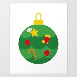 Merry Christmas Christmas Ball Gift Idea Art Print
