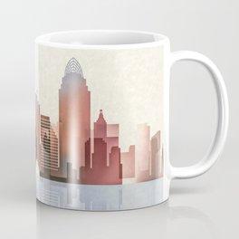 Cincinnati Print, Cincinnati Skyline, Cincinnati Poster, Ohio Art Coffee Mug