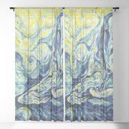 Whale. Ocean Life Sheer Curtain
