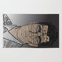 archer Area & Throw Rugs featuring Typographic Sterling Archer by aquenne