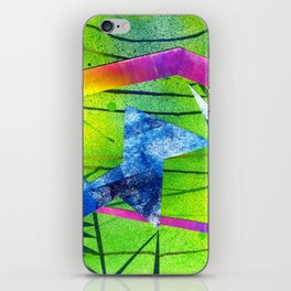 Green Graffiti Print iPhone Skin
