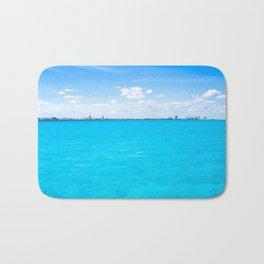 Caribbean Blue Oil Bath Mat