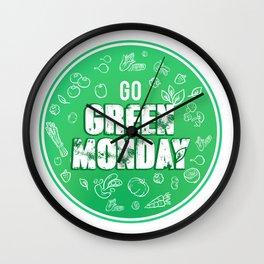 Go eat healthy - Green Monday Wall Clock