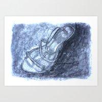 shoe Art Prints featuring Shoe by Cassandra Adsett