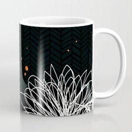 Black Doodle Floral by Friztin Coffee Mug