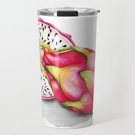Dragon Fruit Watercolour illustration Travel Mug
