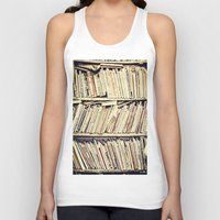 books Tank Tops featuring books by PureVintageLove
