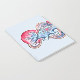 Star Tricera | Cosmic Dinosaur Watercolor Notebook