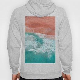 The Break - Turquoise Sea Pastel Pink Beach Hoody
