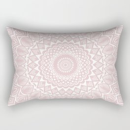 Light Rose Gold Mandala Minimal Minimalistic Rectangular Pillow