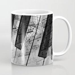 Piano Keys black and white Coffee Mug