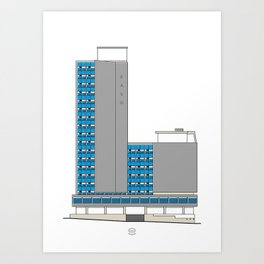 Edificio EASO Art Print