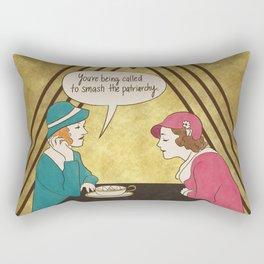 Tea and Patriarchy Rectangular Pillow