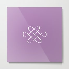 Infinity Knot in Purple - Minimal FS - by Friztin Metal Print