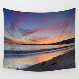 """Bolonia beach at sunset"" Wall Tapestry"