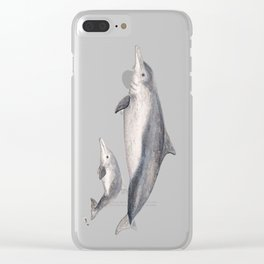 Australian humpback dolphin (Sousa sahulensis) with baby Clear iPhone Case