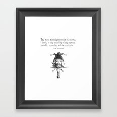 The Most Merciful Thing Framed Art Print