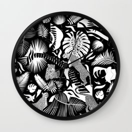 Surreal Wildlife / Black and White Wall Clock