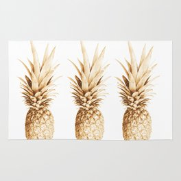 Pineapples and illusion Rug