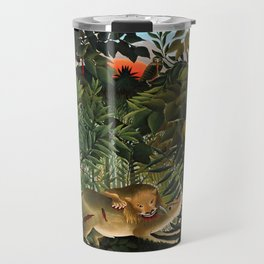 "Henri Rousseau ""A Lion Devouring its Prey"", 1905 Travel Mug"