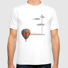 Up...up White Mens Fitted Tee MEDIUM