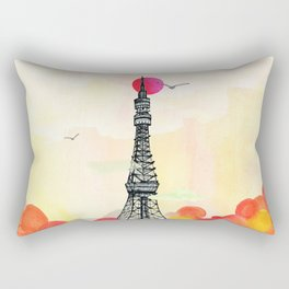 Tokyo Tower - Japan - Soft and peaceful illustration by Yves Kervoelen Rectangular Pillow
