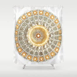 Arabic Pattern Circle Shower Curtain