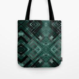 Black and green abstract pattern . Tote Bag