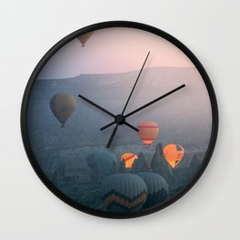 Balloons over Cappadocia Wall Clock