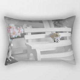 Shiba Inu Park Bench Rectangular Pillow