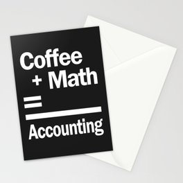 Coffee + Math = Accounting Stationery Cards