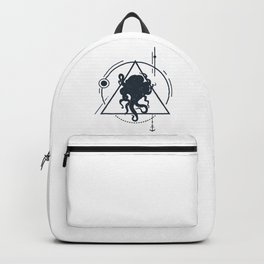 Inspirational Illustration With Octopus In Geometric Style Backpack