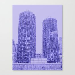 Marina Towers - Chicago - Purple Canvas Print