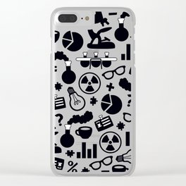 Science Pattern Clear iPhone Case