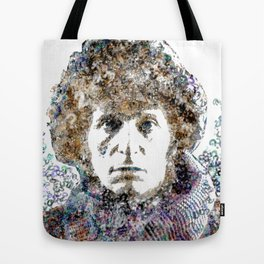 Tom Baker Text Portrait Tote Bag