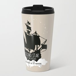 Second star to the right and straight on till morning - Peter Pan Inspired Art Print  Travel Mug
