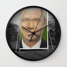 Zombie Poster Collage 2 Wall Clock