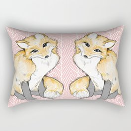 Chevron Foxy Four  Rectangular Pillow