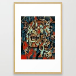 """Man In Agony"" Framed Art Print"