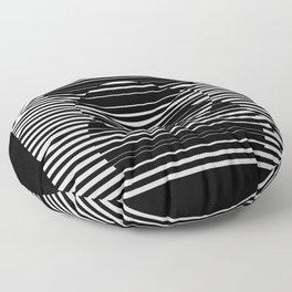 Optical Hypnotic Illusion 4 - Black & White Floor Pillow