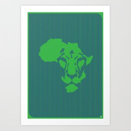 Afriking Art Print