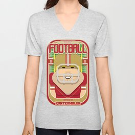 American Football Red and Gold - Enzone Puntfumbler - Sven version Unisex V-Neck