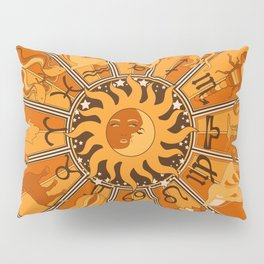 Harley and J Zodiac Orange Pillow Sham
