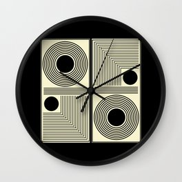 Vintage Indian Tantra Pattern Wall Clock