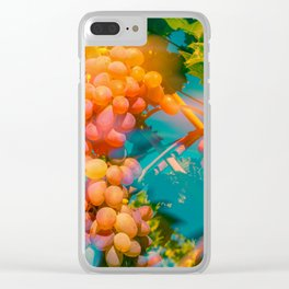 Sun Streaked Grapes Clear iPhone Case